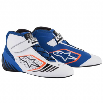 TECH 1 KX KART BOOTS BLU/WHT/FLO ORANGE